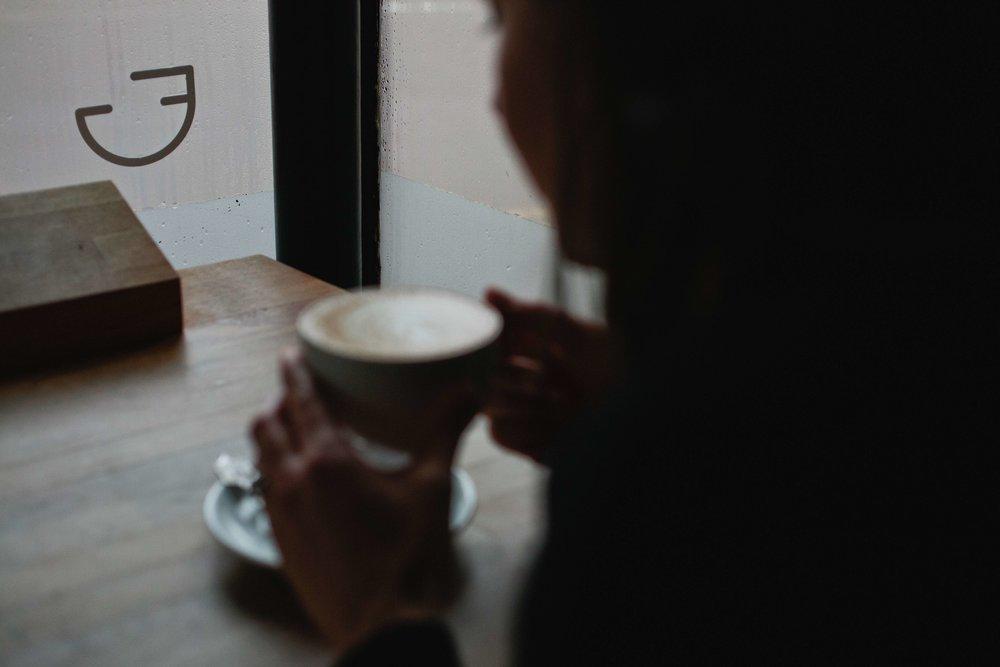 Fine Grind Coffee Shop Tunbridge Wells Logo Design Window Brand Mark