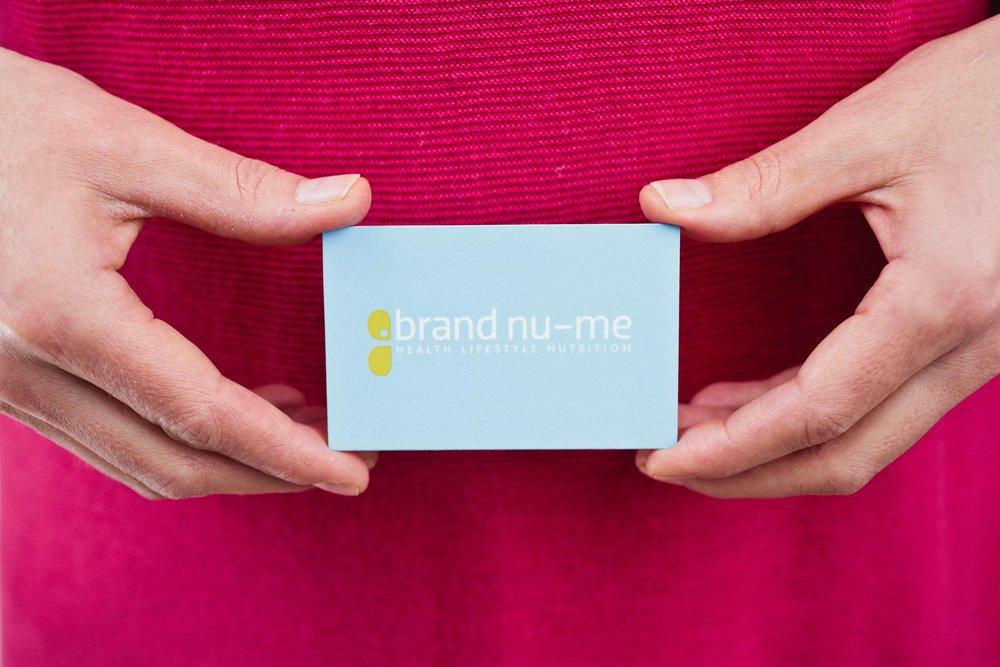 Brand Nu-Me Tunbridge Wells Business Card Design and Print