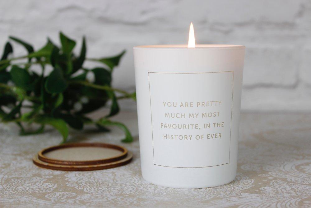 Candle product design for Love Inc. Ltd Tunbridge Wells