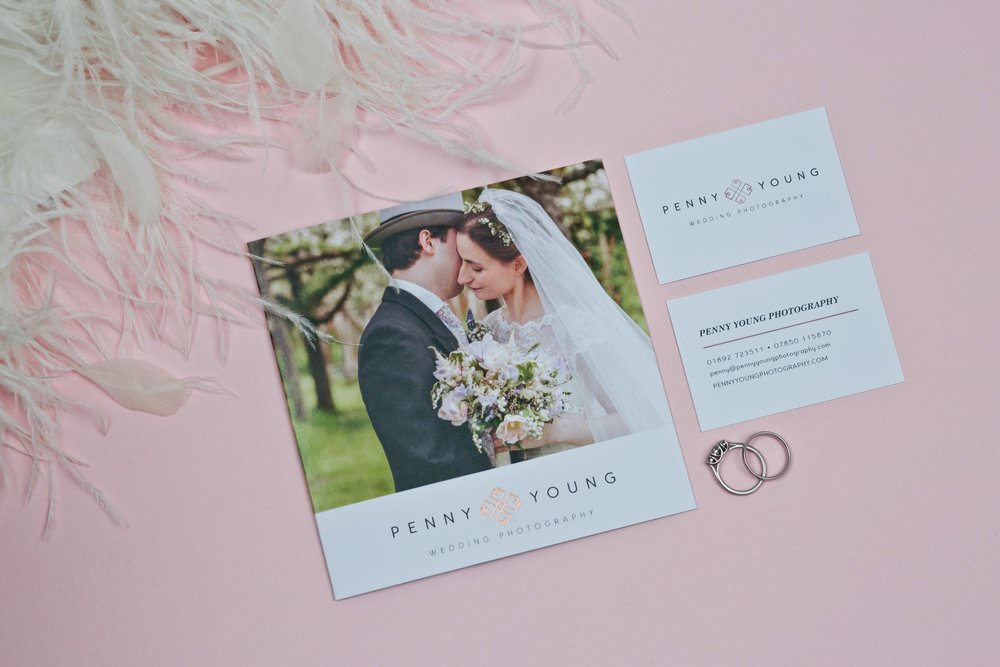 Penny Young Photography Tonbridge Digitally Printed Brochure and Business Card Design. Including Rose Gold Foiling