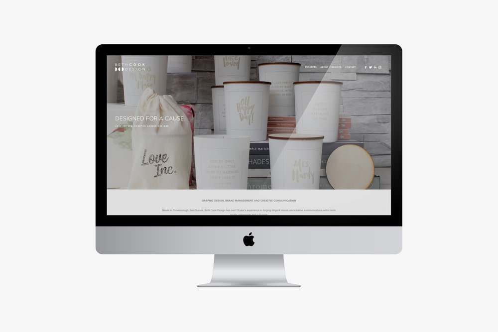 Beth Cook Design website and brand design refresh.