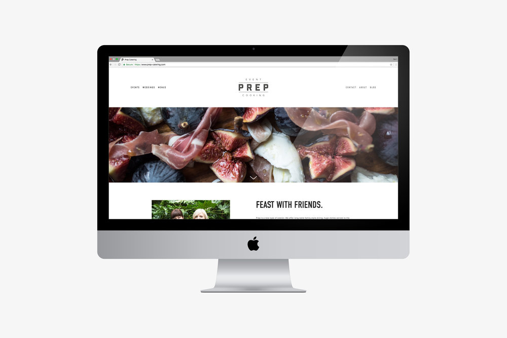 Website Design for Prep-Catering Westerham home page by Beth Cook Design East Sussex.