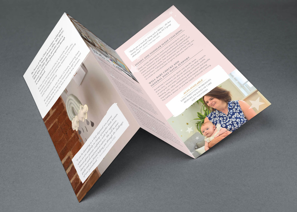 Brochure design for Vanessa Christie, Wadhurst, East Sussex