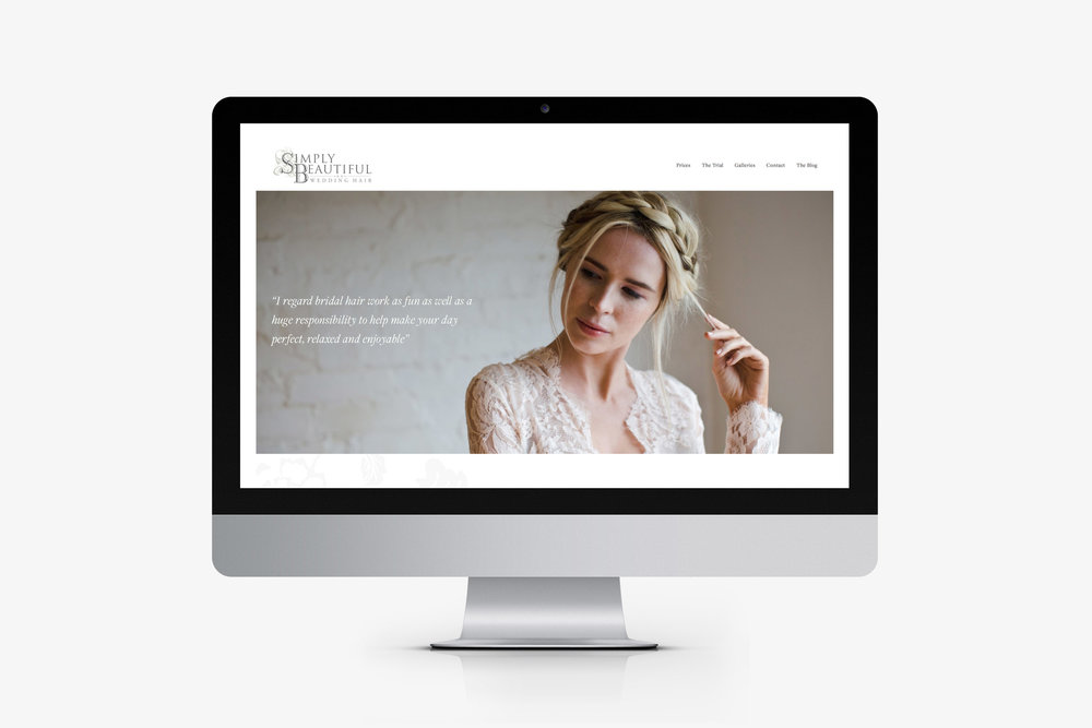 Web designer for Simply Beautiful Wedding Hair, Crowborough, East Sussex
