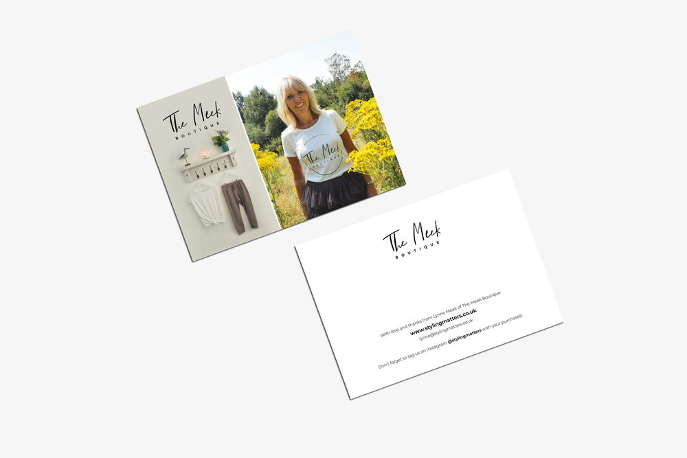 Brand agency for The Meek Boutique, Tunbridge Wells, Kent