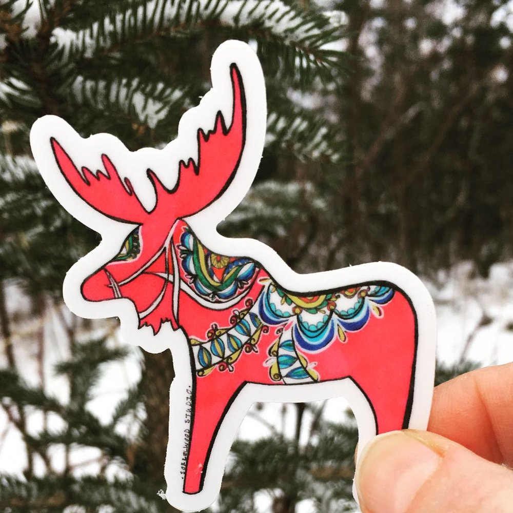 Dala Moose Sticker