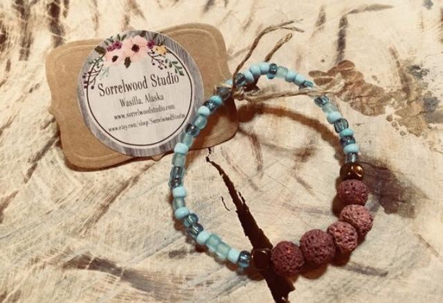Aromatherapy lava bead bracelet