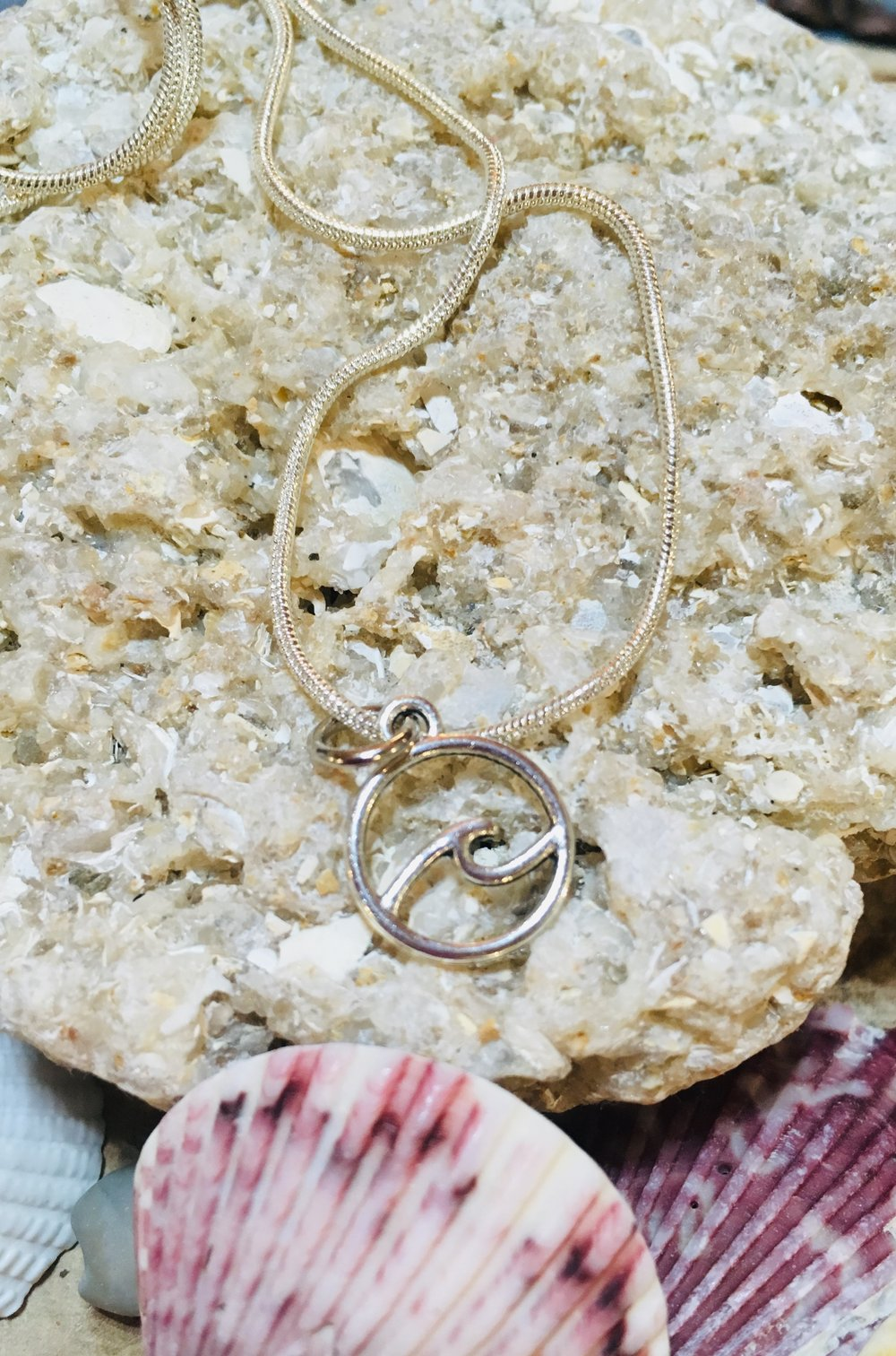 Silver plated wave