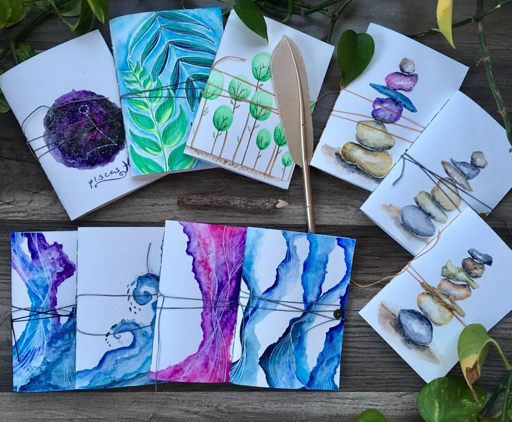 Watercolor Cover Journals