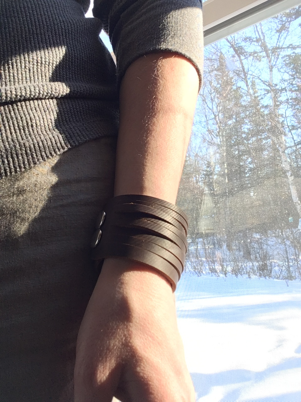 Strappy Leather Cuff