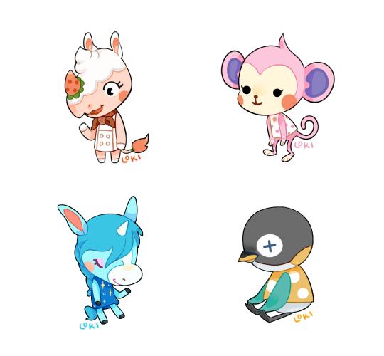 Animal Crossing Stickers (Fan Art)