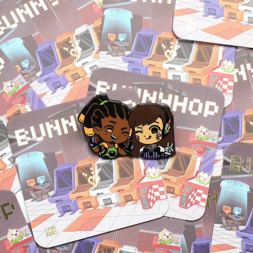 Overwatch Enamel Pin Foil Backing Card