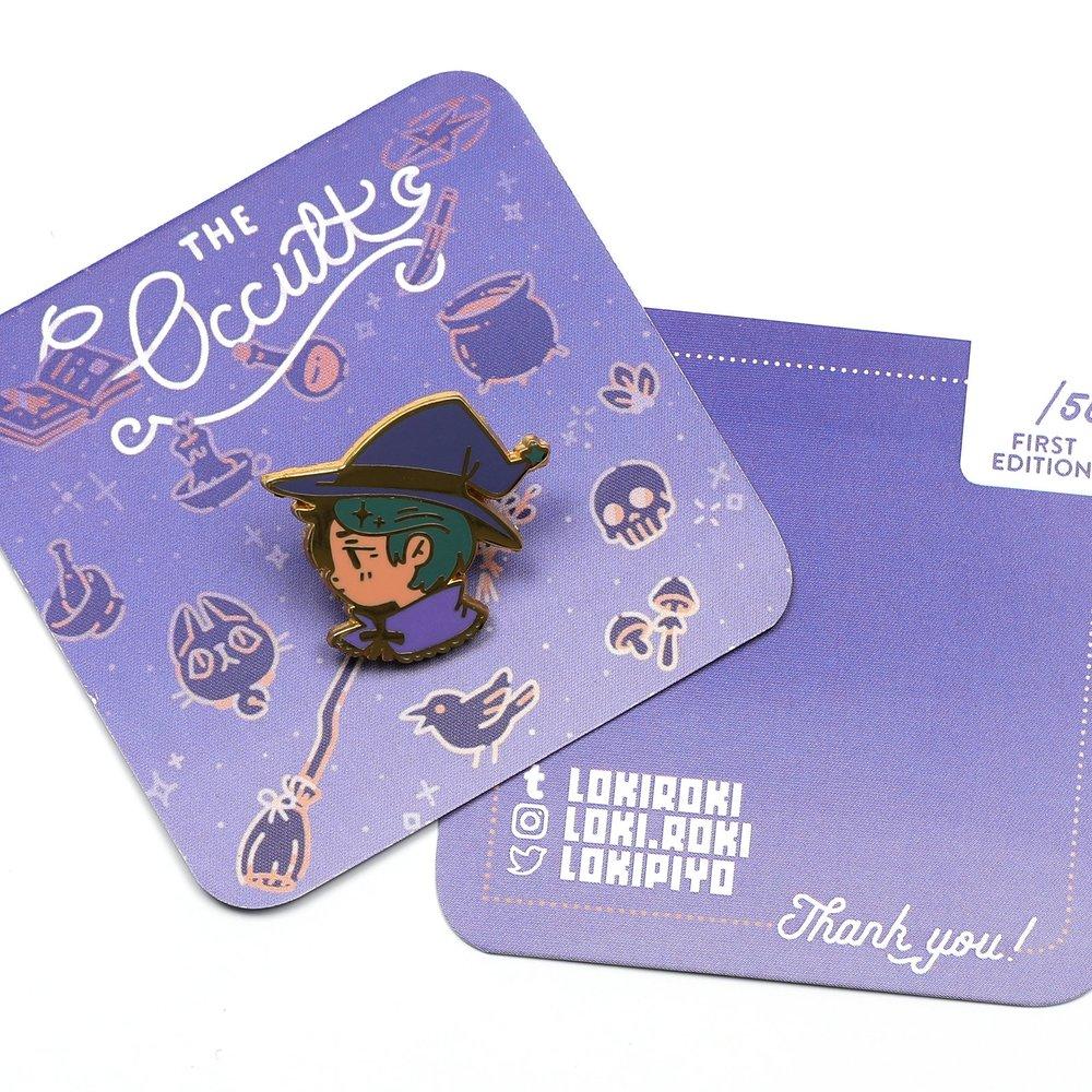 Witch Enamel Pin Backing Card