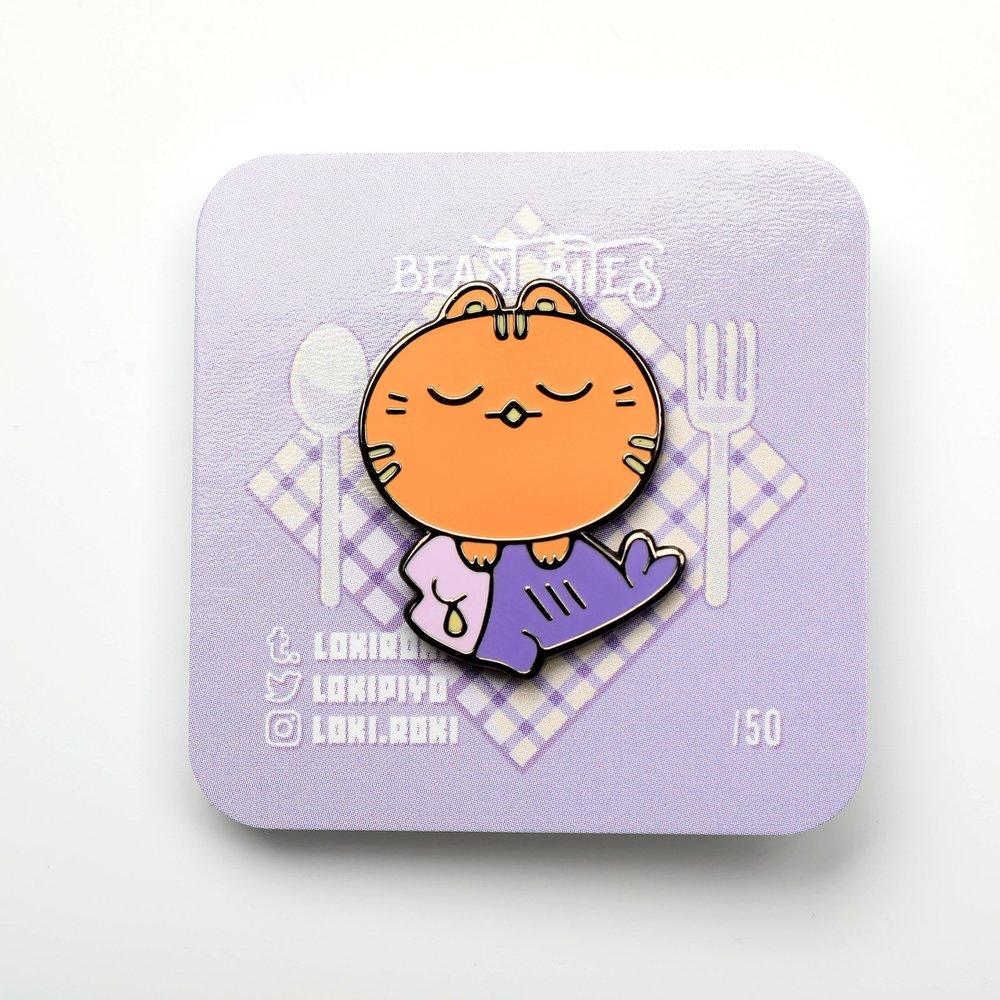 Beast Bites Enamel Pin Backing Card