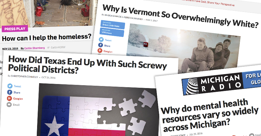 Our partners report original stories that start from questions posed by the public.