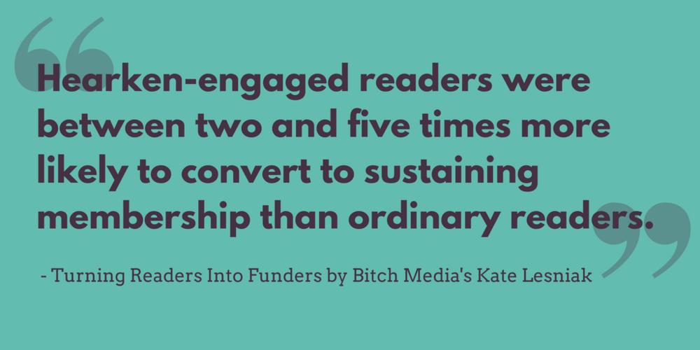 Read the results of Bitch Media's Hearken case study.