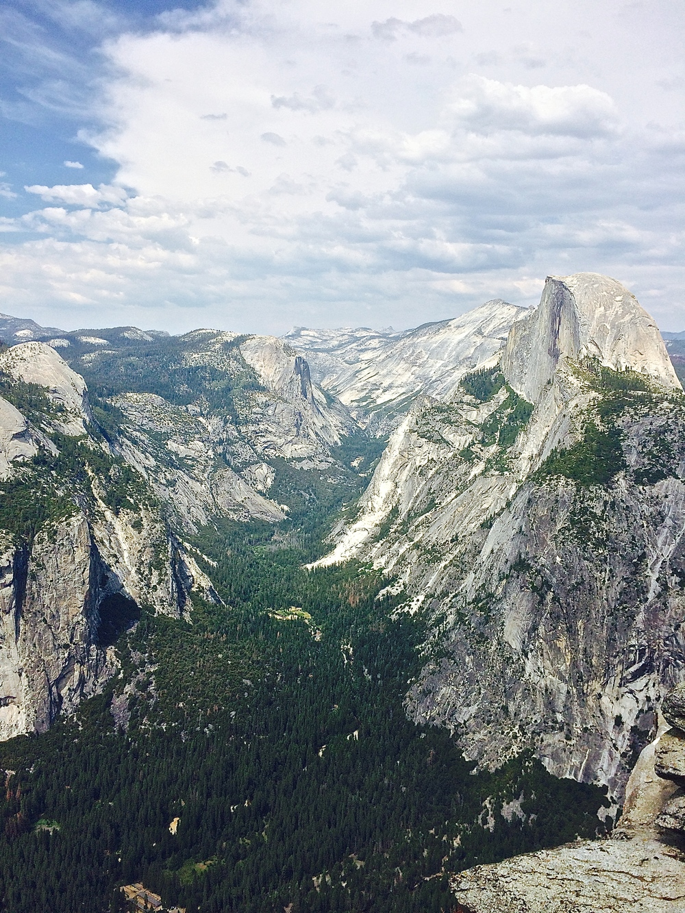 From Glacier Point looking at Half dome and towards Tuolumne Meadows