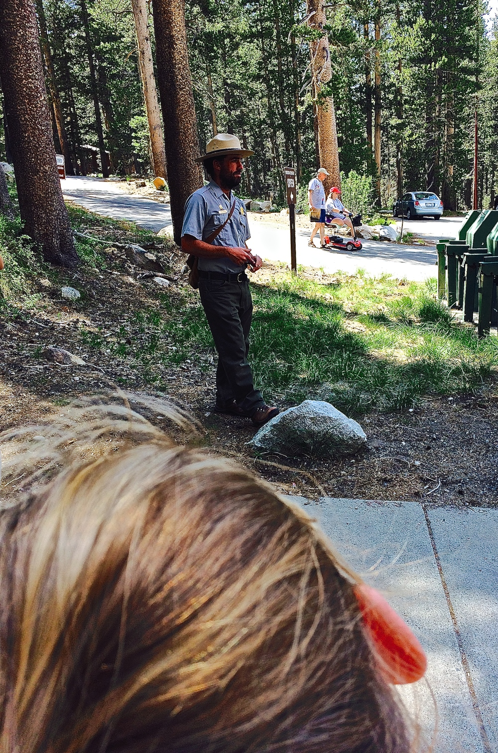 The Ranger talk at Tuolumne Meadows