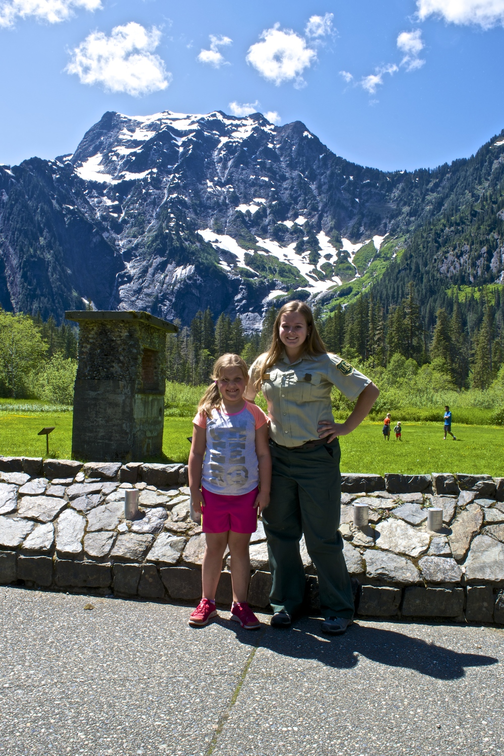 Raichel with Monica, the Forest Service Ranger she interviewed in the podcast!