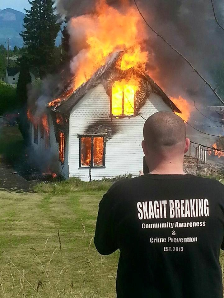 Chris Nelson documentation a structure fire