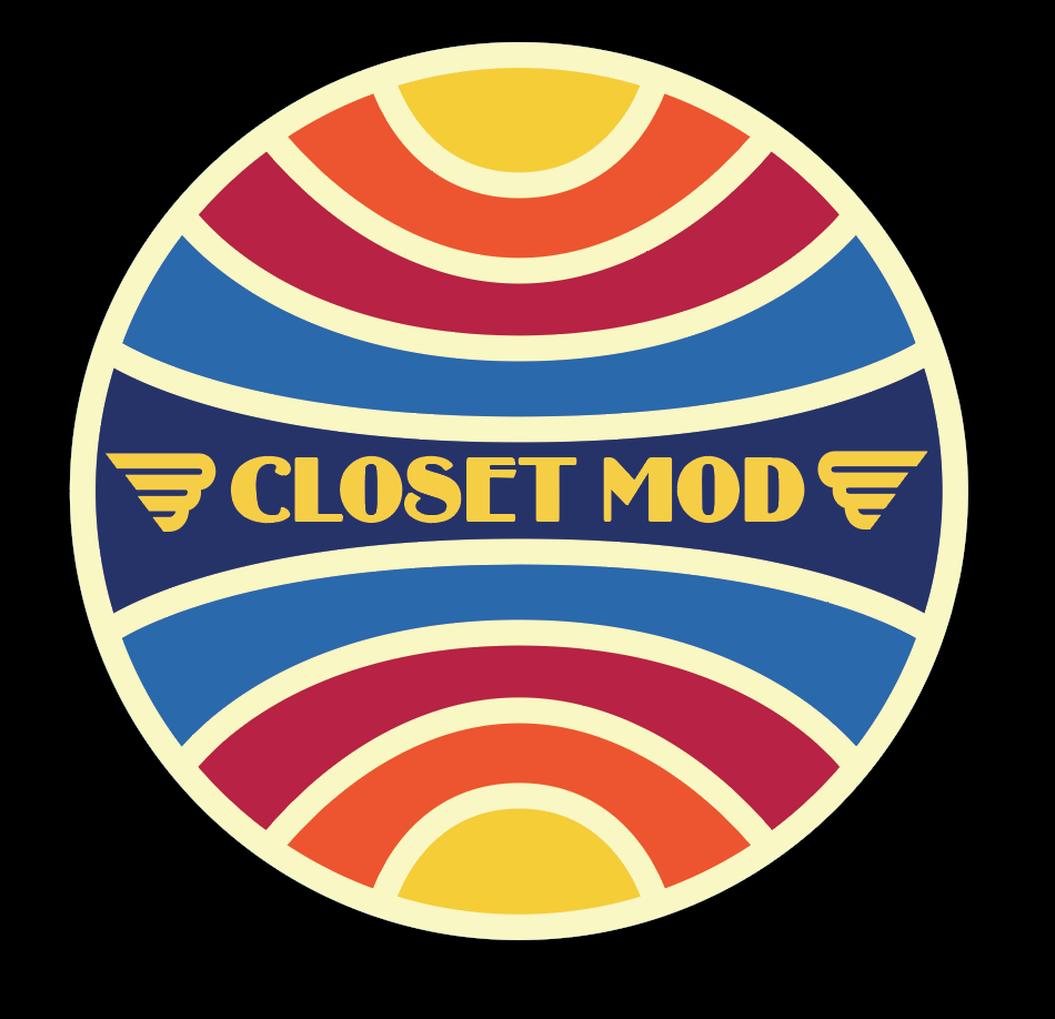 Embroidered patch designed for clothing brand, Closet Mod