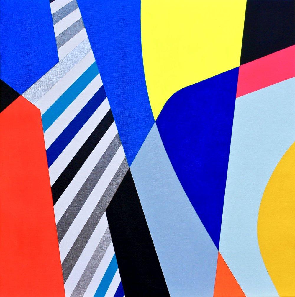 "AGRA  Acrylics On Canvas  22"" X 22"" In   55 X 55 Cm"