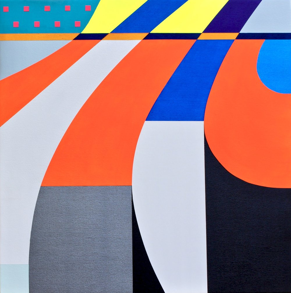 "LUZIA  Acrylics On Canvas  22"" X 22"" In   55 X 55 Cm"