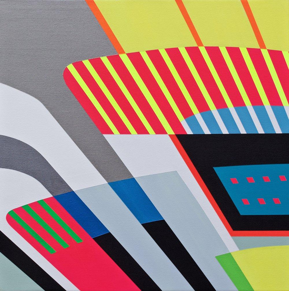 "NEWPORT  Acrylics On Canvas  22"" X 22"" In   55 X 55 Cm"