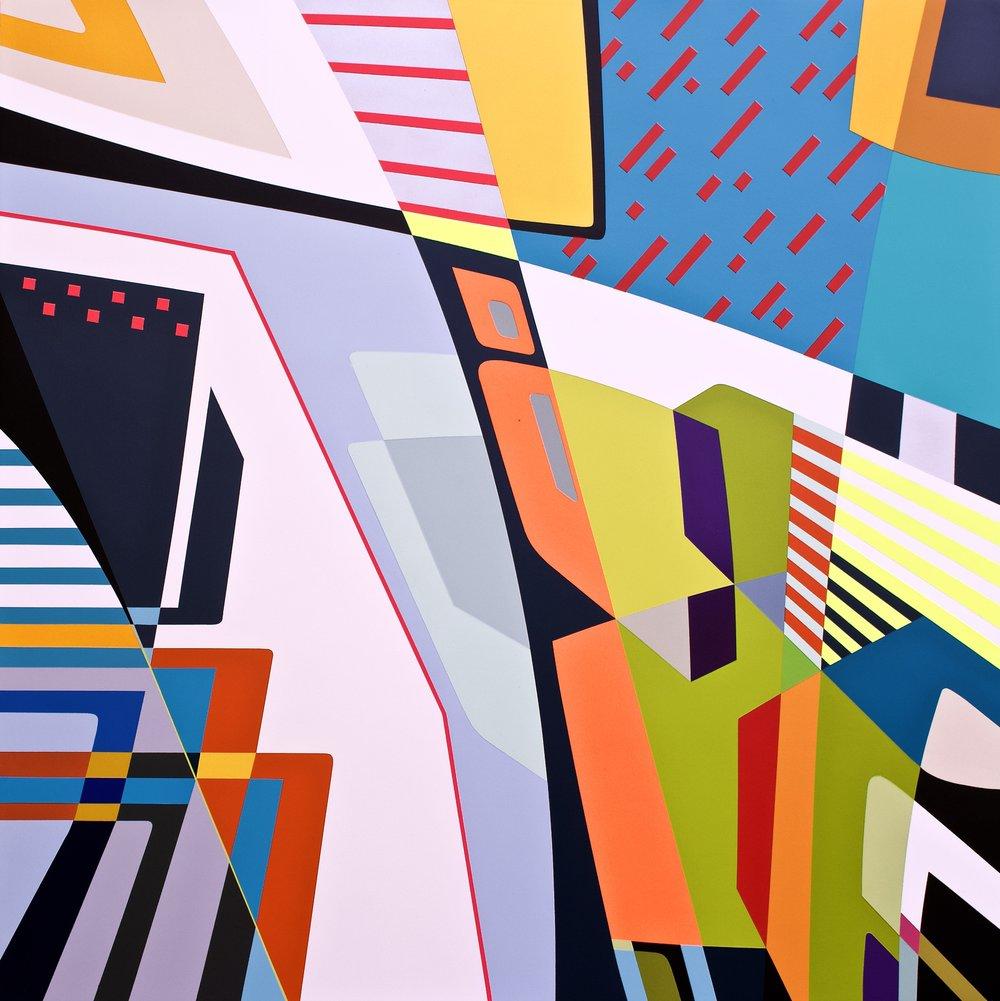 "Showing at Miami CONTEXT ART 2018      https://www.heitschgalerie.de/en/artists/jessus_hernandez      https://www.artsy.net/artwork/jessus-hernandez-winged-man     WINGED-MAN   45"" X 45"" X 2.75"" | Spray paint On Wood"