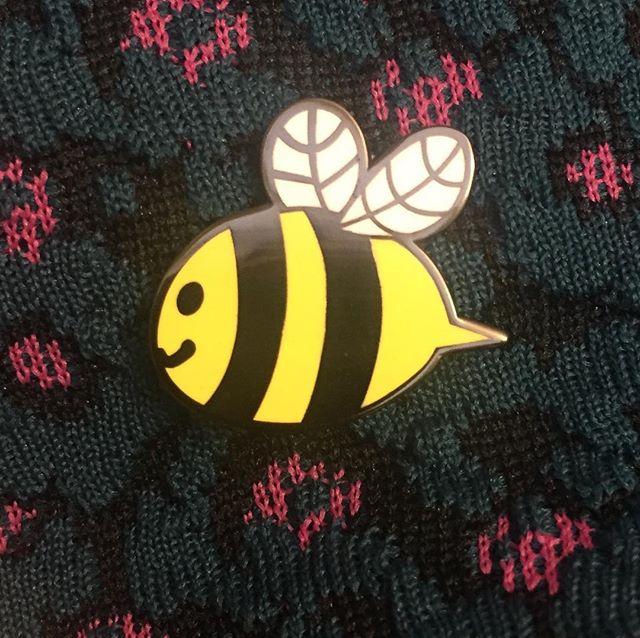 What a sweet surprise--thanks @eeelisa!  #🐝 #bee #enamelpin