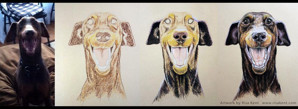 Risa-Kent-dog-portrait-wip