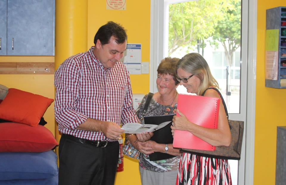 With new volunteers at Redland Community Centre in Capalaba