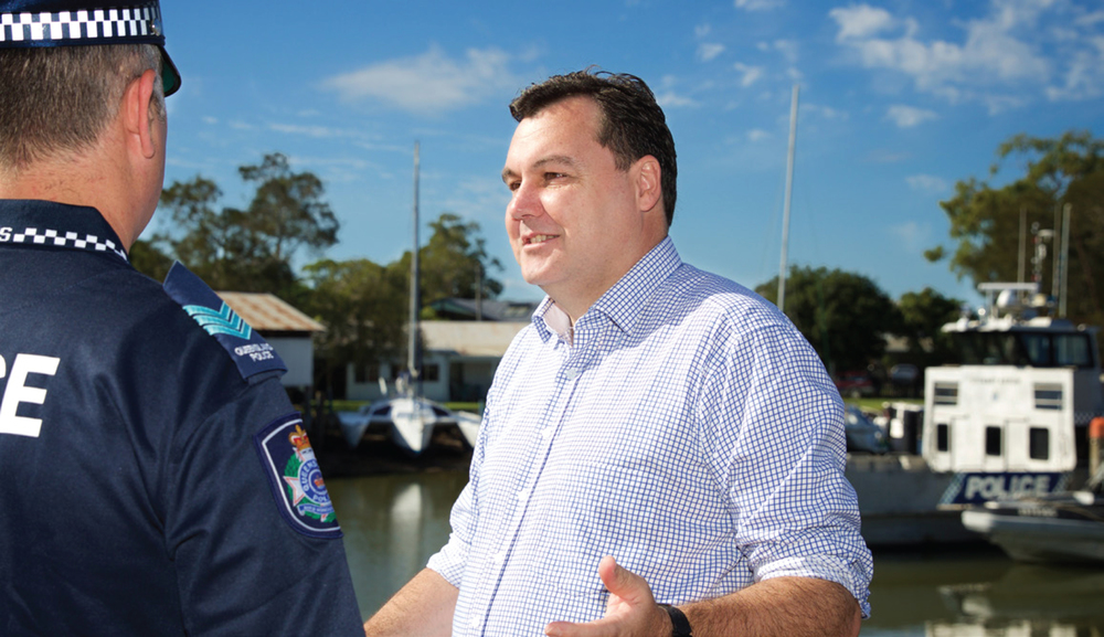Talking law and order in Redland Bay