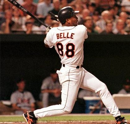 d4cf7e5a0 Albert used number 8 up until his time with the Orioles; Cal Ripken Jr.'s  presence forced Belle to add the second 8. It's very similar to Ivan  Rodriguez ...