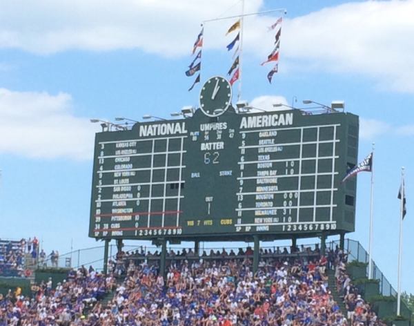 If you look closely, you can see the 10 spot the Cubs gave up in the top of the 1st.