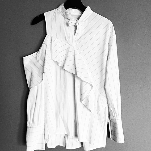 Who's ready for #spring statement #shirts showing a little shoulder? Only $98 and coming very soon. #williambradley