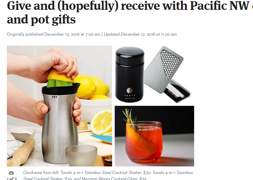 PRESS Seattle Times // Give and (hopefully) receive with Pacific NW drink and pot gifts