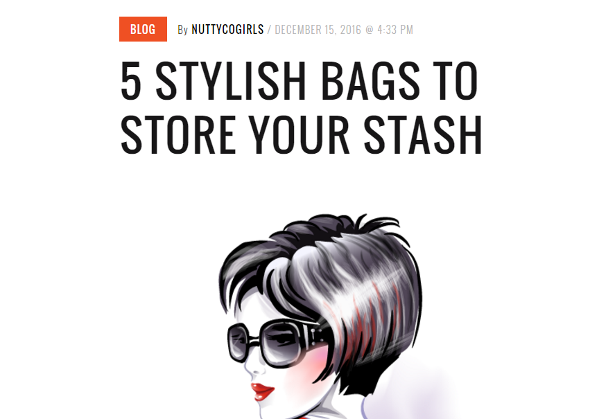 PRESS NuttyCo // 5 Stylish Bags to Store Your Stash