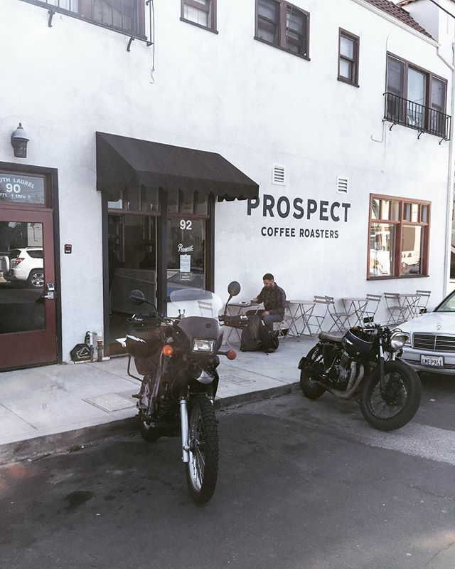 Made a quick stop to meet with @kennykeyes at @prospectroasters in Ventura. Next stop Las Angeles.