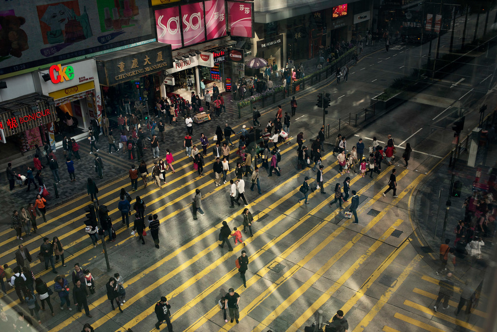 The Chungking Mansions stand on a segment of Nathan Road, also called the Golden Mile, a busy commercial street at the heart of Tsim Sha Tsui.