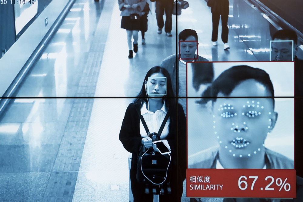 Screen capture of CCTV footage using the face recognition system Face ++, on display at the company's showroom.  Face++ AI software allows the users to check scanned faces against a database of researched individuals in a matter of seconds. How such a system can work when the database numbers thousands if not millions of people remains to be seen. However, the Chinese police frequently boasts about arrests of criminals with the help of CCTV cameras coupled with A.I., facial recognition systems.