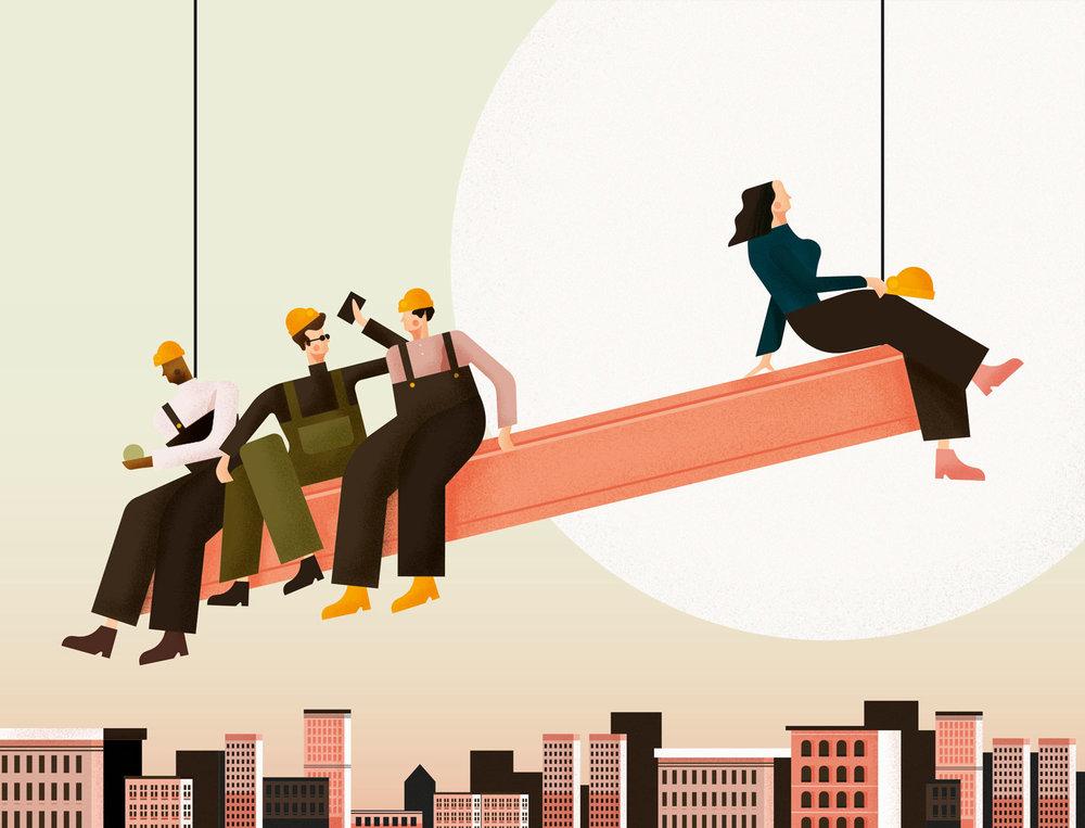 """Modus Magazine : Debate """" Women quotas in construction"""" - 2016"""