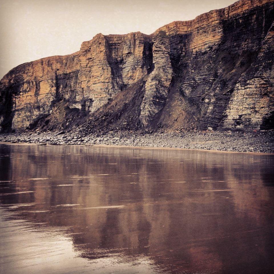 Towering cliffs on the Glamorgan Heritage Coast