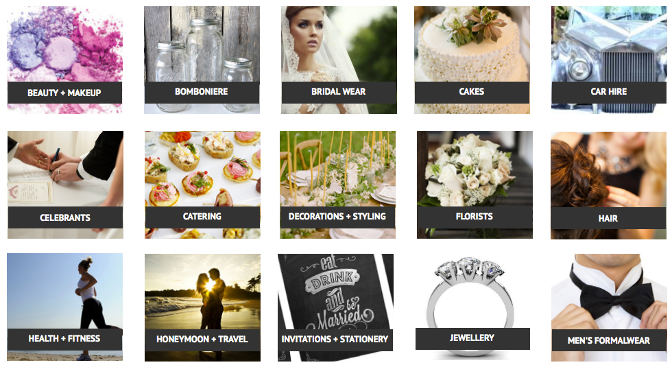 www.shirewedding.com.au  provides a comprehensive directory, exclusively for vendors and wedding suppliers in Sydney's Sutherland Shire.  (Image via  Pagevinedesign.com )