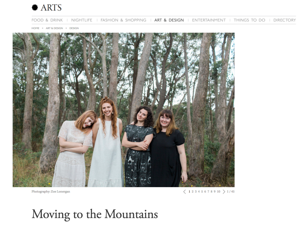 Broadsheet 'Moving to the Mountains'