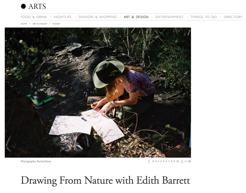 Broadsheet 'Drawing from Nature'