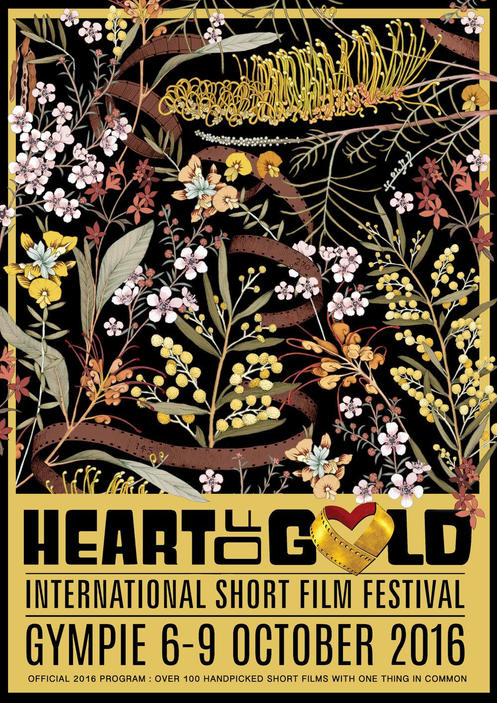 Heart of Gold International Short Film Festival : Poster/Artwork Design