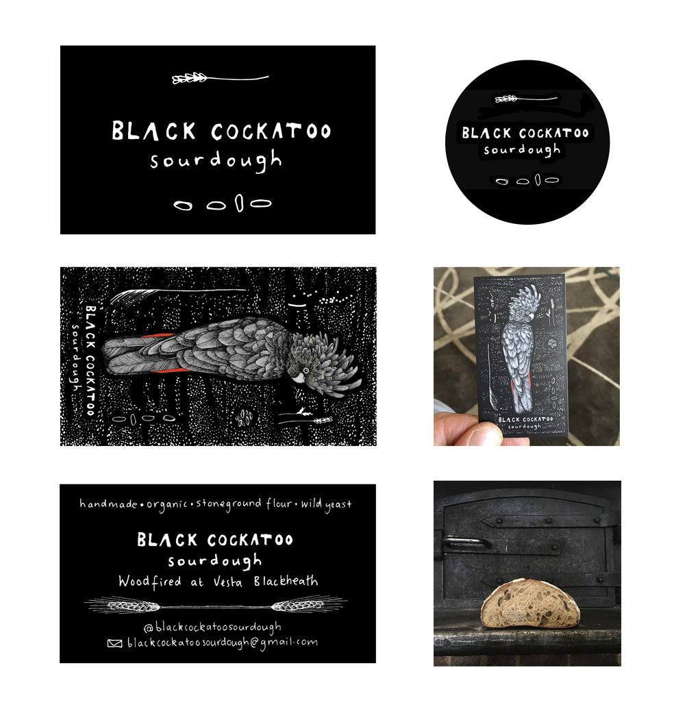 Black Cockatoo Sourdough : Illustration + Branding