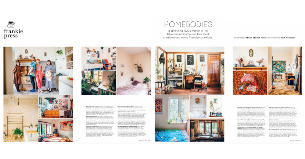 Frankie Magazine - Homebodies - Print issue