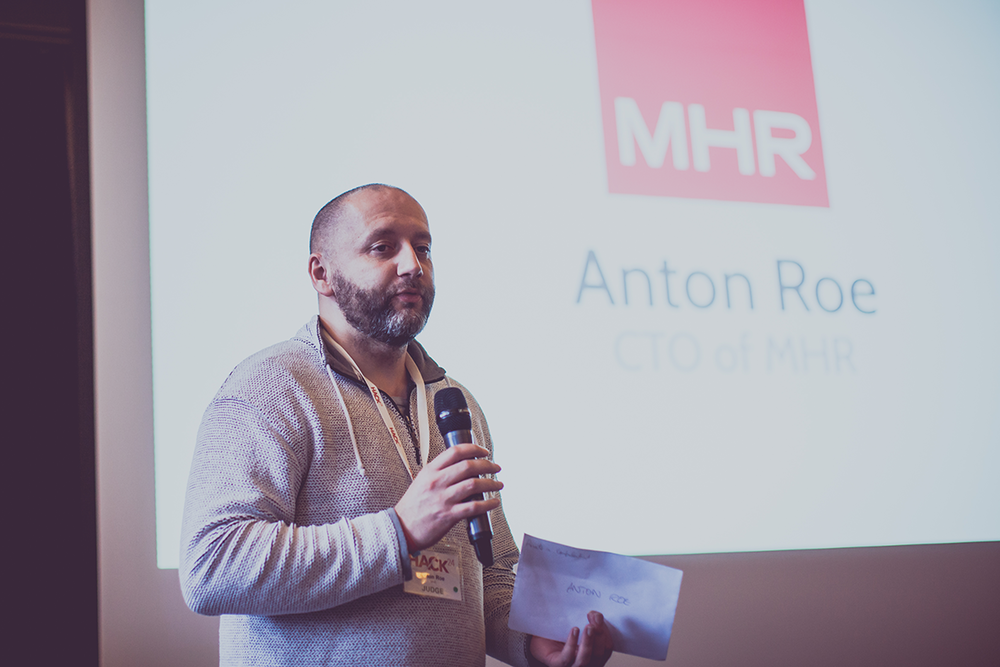 Anton Roe, CEO of MHR, at Hack24 2017